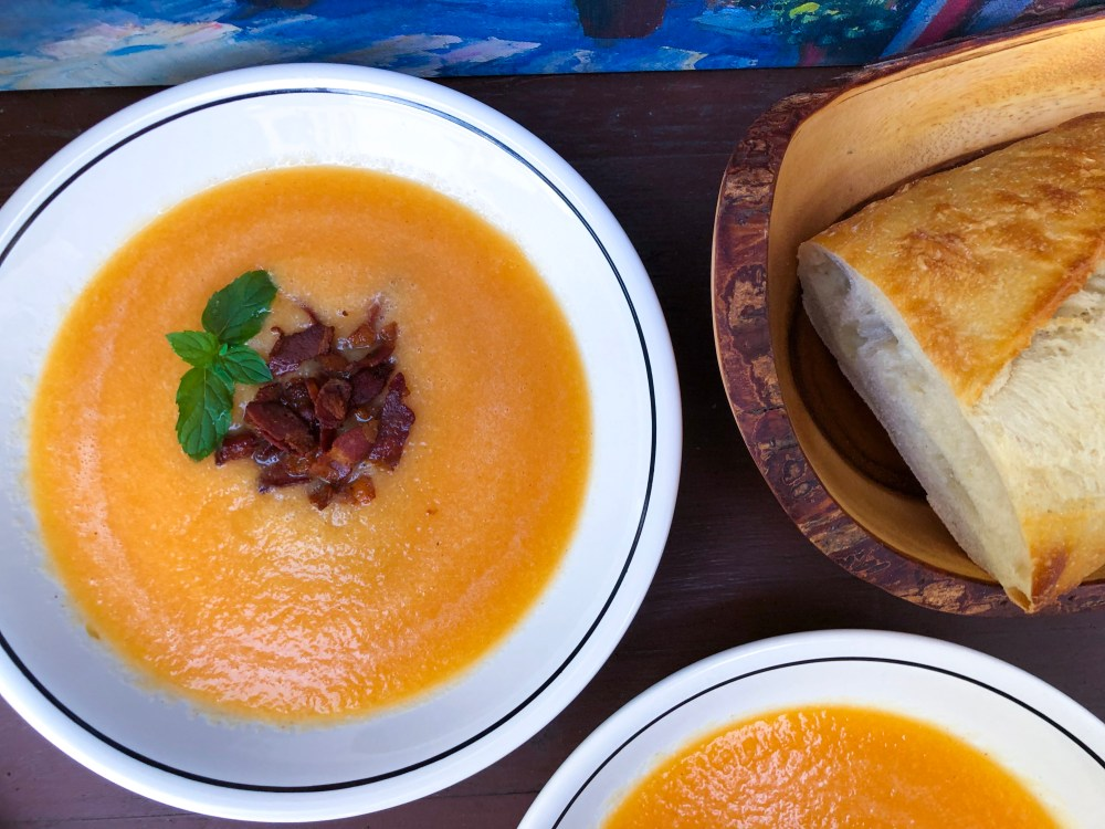 Bacon Cantaloupe Soup