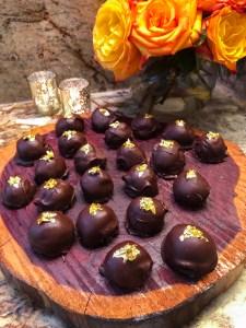 Dark Chocolate Maple Truffles