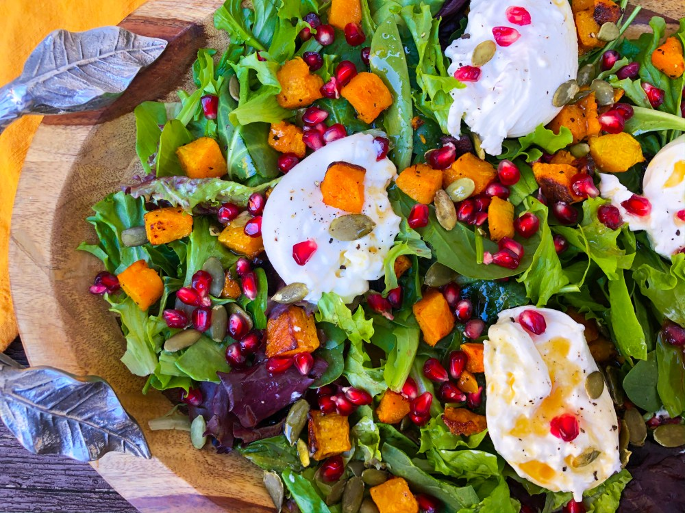 Butternut Squash Pomegranate Salad