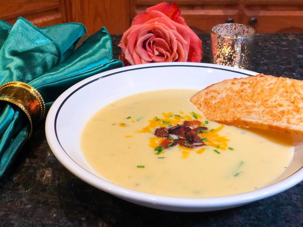 Easy Cheddar Potato Leek Soup