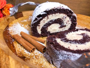Chocolate Cinnamon Cake Roll