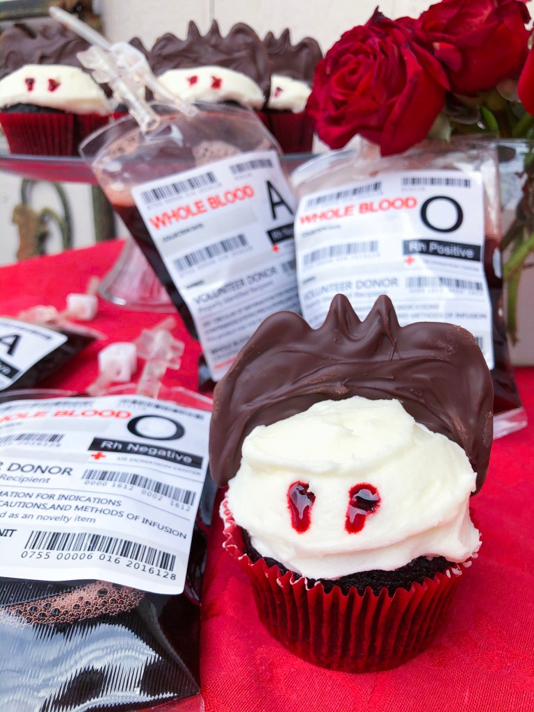 Vampire Bite Cupcakes, Halloween Desserts