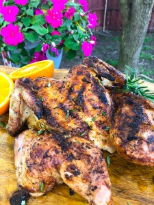 Orange Whole Grilled Chicken