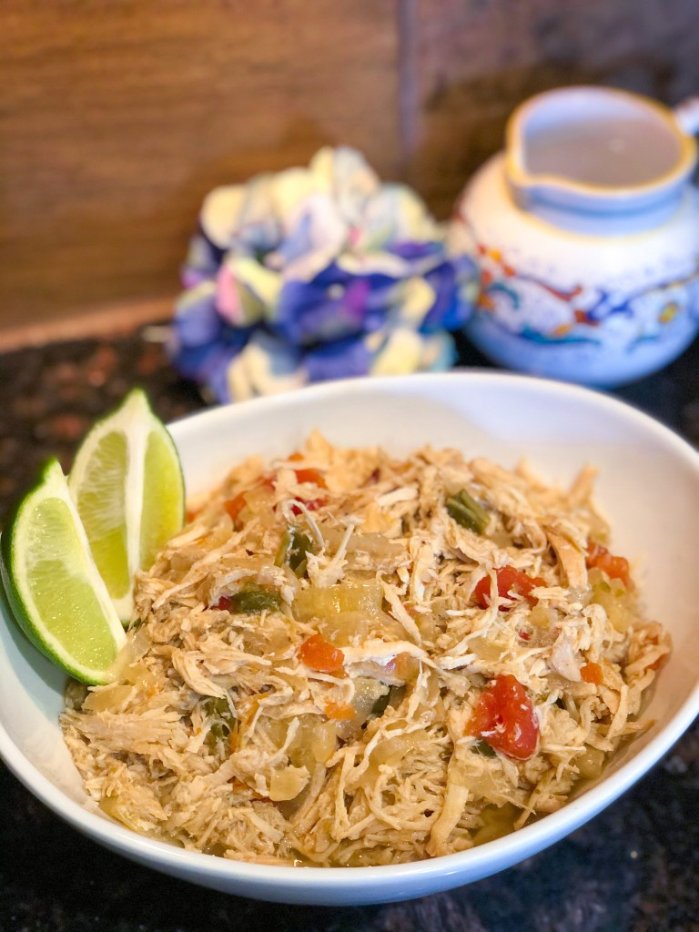 Crockpot Fajita Shredded Chicken