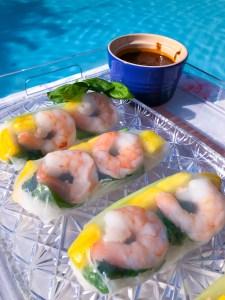 Pineapple Shrimp Spring Rolls