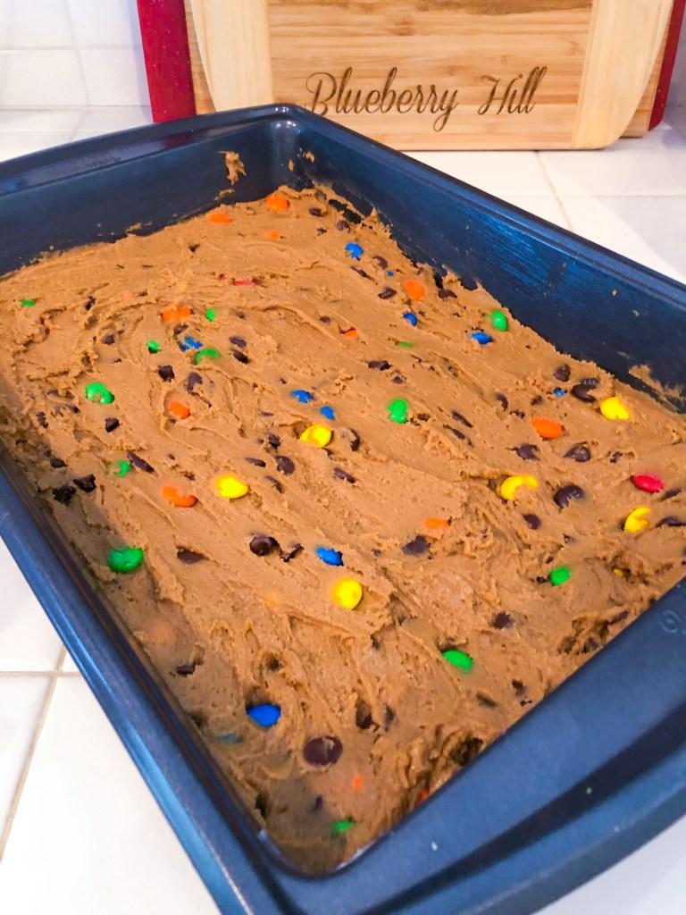 M&M Bar Cookies