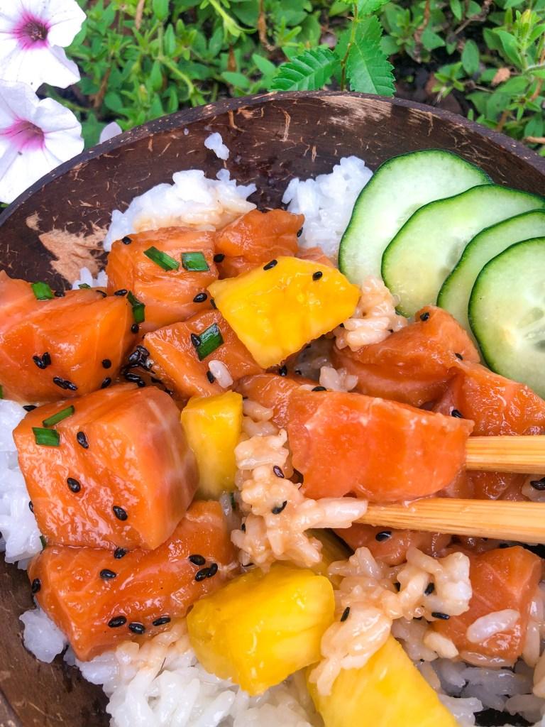 Salmon Pineapple Poke Recipe