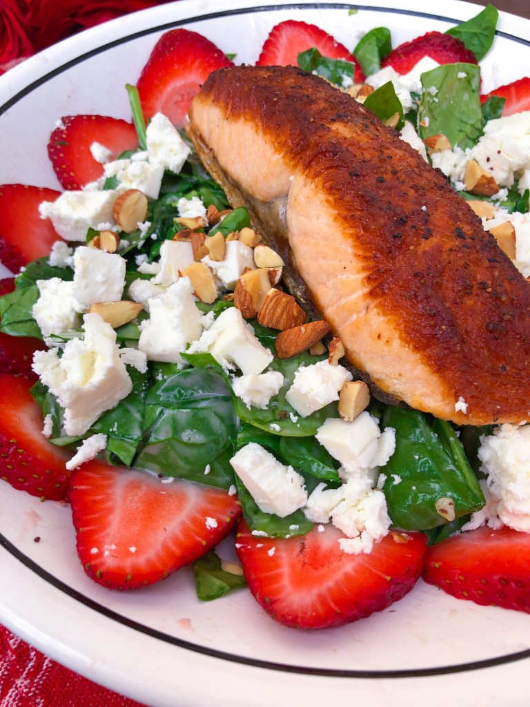 Strawberry Salmon Salad