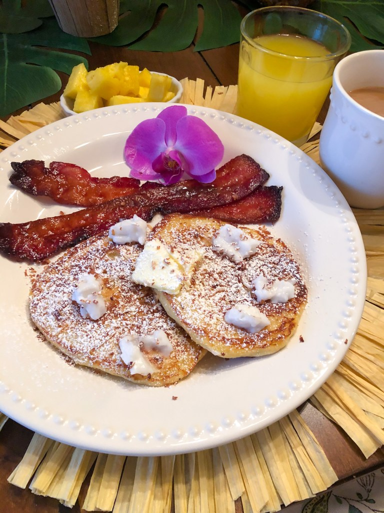 Haupia Pancakes, Leftover Haupia Recipe, Hawaiian Brunch Recipes