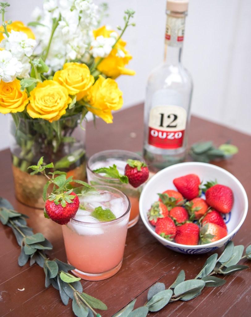 Strawberry Ouzito | Greek Cocktail