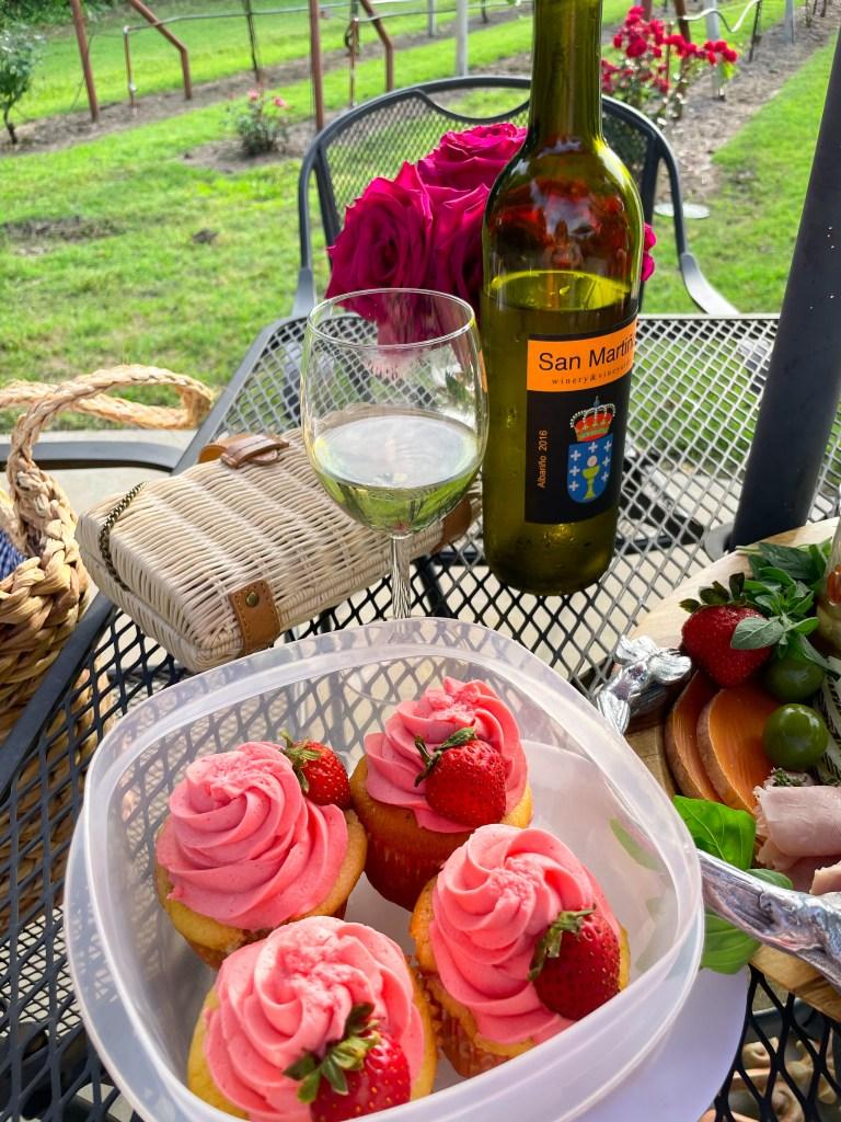 Spring Vineyard Charcuterie board Picnic