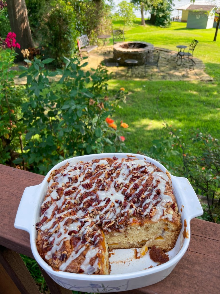 Fresh Peach Coffee Cake Recipe