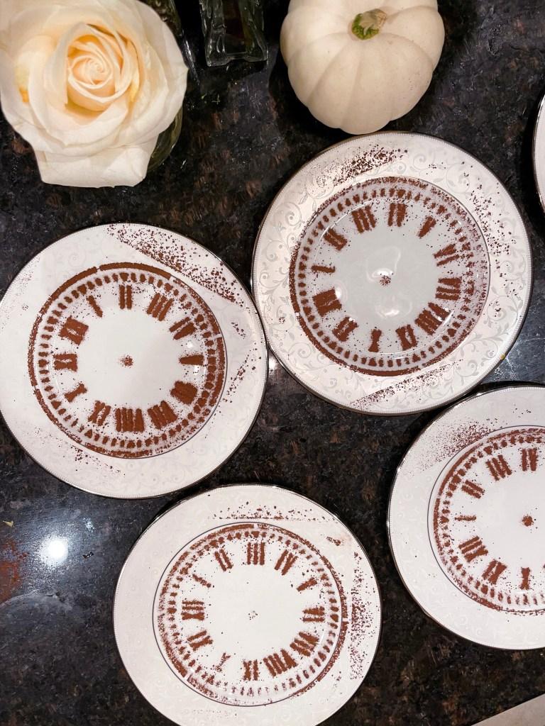 How to Make Cocoa Powder Clocks | New Year's Eve Dessert