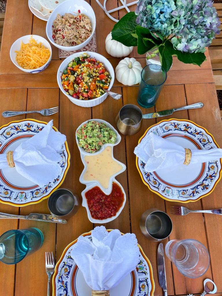 Backyard Taco Night   Dinner Al Fresco Ideas