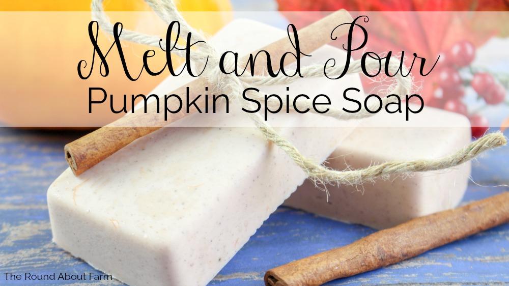 Melt and Pour Pumpkin Spice Soap