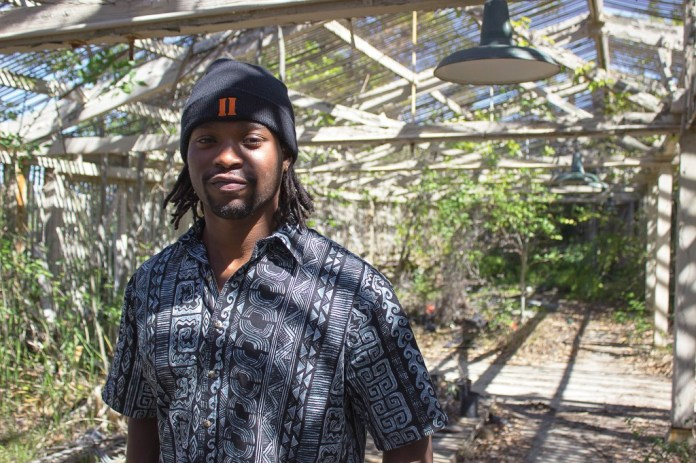 Former Oregon State football player, Akeem Gonzales, poses in an abandoned green house in the Horticulture Center of Pierce College, Woodland Hills, Calif., on March 15, 2014. Gonzles left Oregon State to pursue an education in horticulture with Pierce College. Photo: Nico Heredia
