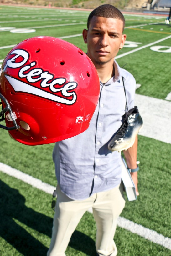 """Bobby Baker, defensive back for the football team, is a spokesperson for the """"Be You"""" anti-bullying campaign. Photo: Giuliana Orlandoni"""