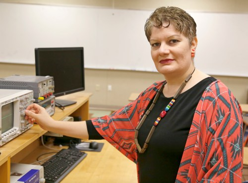 Farahnaz Nezhad is a new instructor at Pierce College. Nezhad is an instructor of electronics. She also teaches part time at CSUN, and taught at ITT Tech for several years. Nezhad worked as a Software Engineer for 12 years at Haas Automation Inc., Tuesday, Nov 15 2016, On room 8110, Pierce College, Woodland Hills, Calif., Photo by Abdolreza_Rastegarrazi