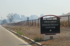 Pierce College's Large Animal Evacuation Center was opened at the Equestrian Center in Woodland Hills, Calif. due to the Saddleridge Fire on Oct. 11, 2019. Photo by Cecilia Parada.