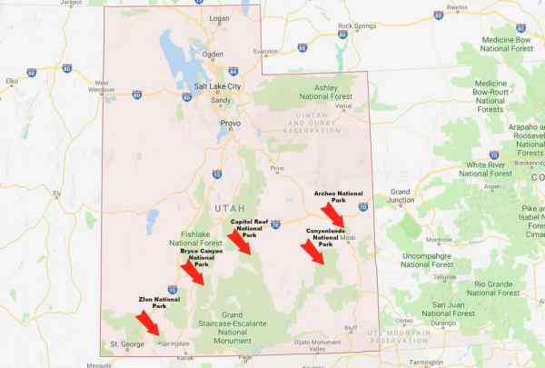 The Mighty 5 Utah National Parks The Roving Foley39s