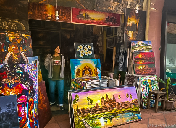 Paintings in Siem Reap