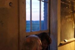 Farmland outside the window