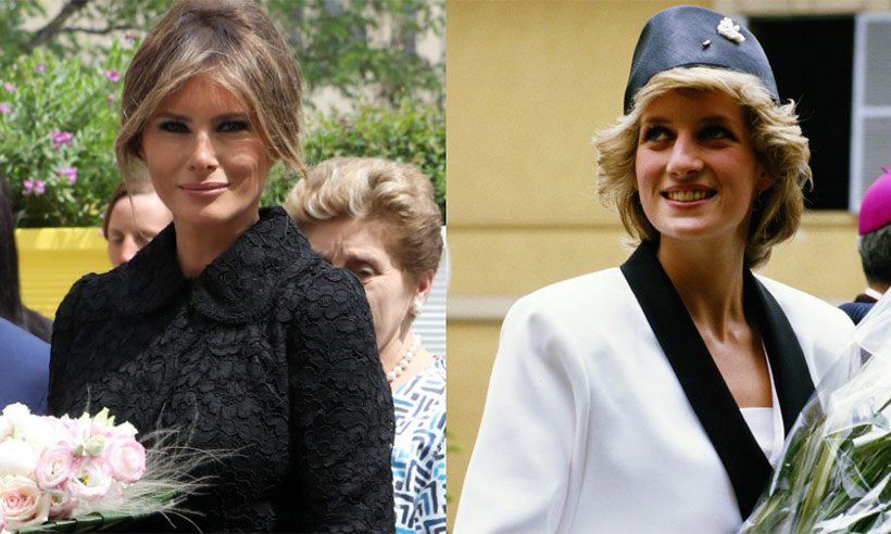 First Lady Melania Trump follows Princess Diana footsteps.