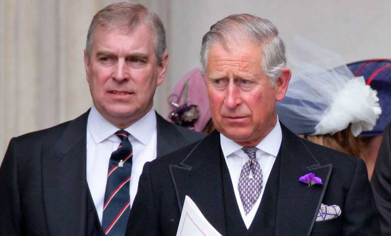 Prince Charles Along With His Younger Brother Prince Andrew The Royal Uk
