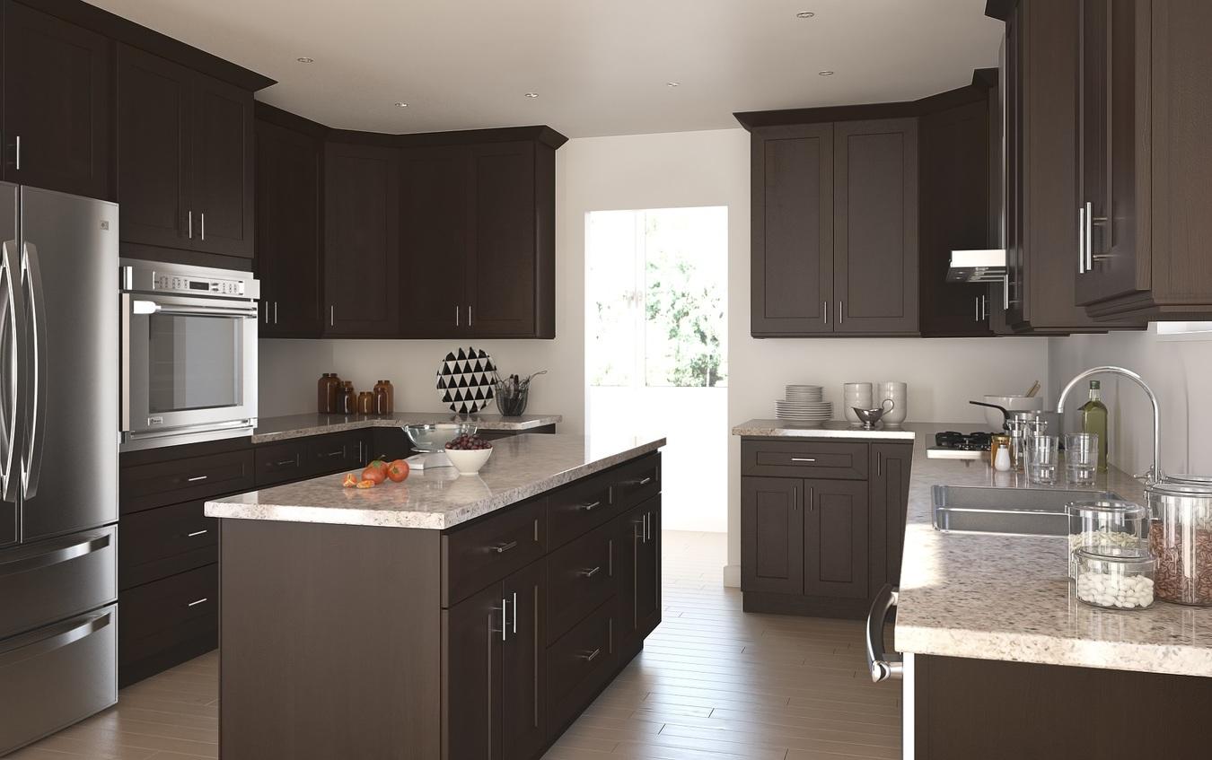 Dark Chocolate Shaker  Ready To Assemble Kitchen Cabinets