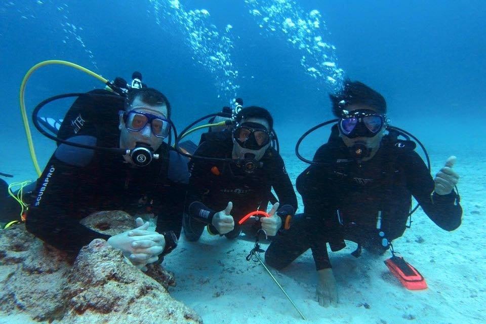 Diving selfie in Raja Ampat