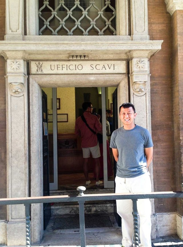 Vatican City Scavi Tour - At the entrance of the Ufficio Scavi (the Excavation Office)