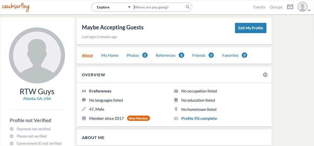 How to Create a Great Couchsurfing Profile