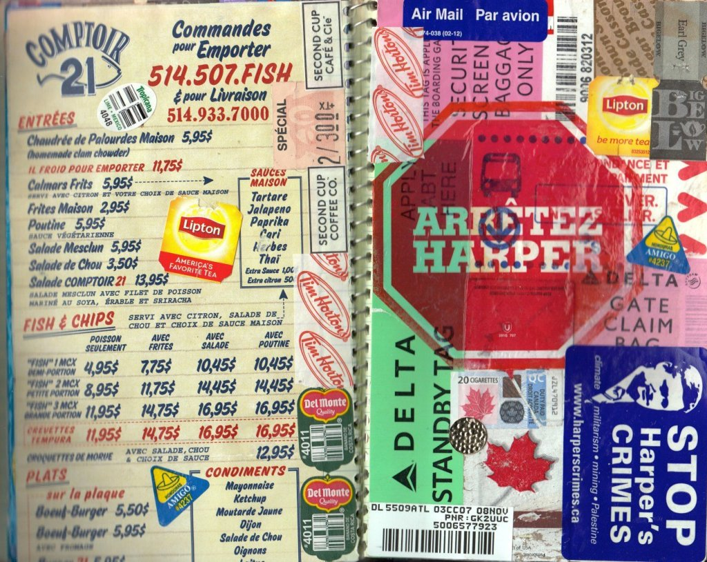 travel journal ideas: collage of items