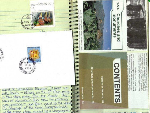 Unique Travel Journal Postage Stamps