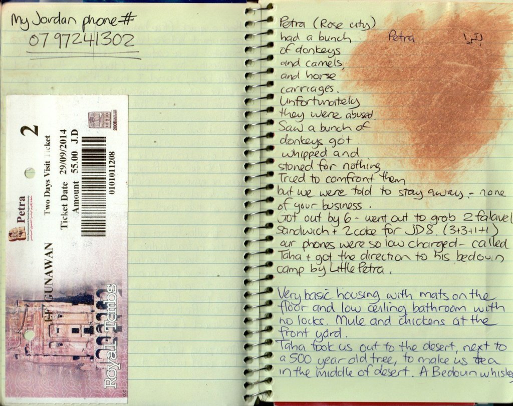 travel journal ideas: mud and tickets