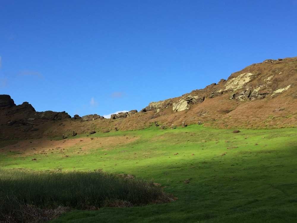 Highlights of Easter Island - Rano Raraku crater