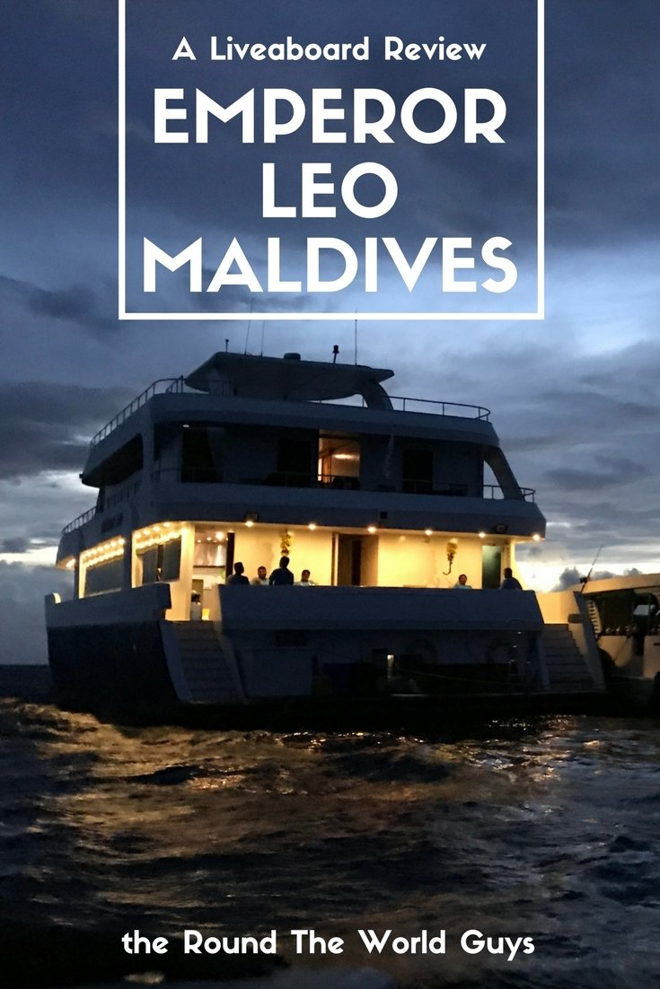 While we weren't big fans of the boat itslef, the diving, staff, and food were fantastic. Here is our review of the Emperor Leo liveaboard - Maldives.