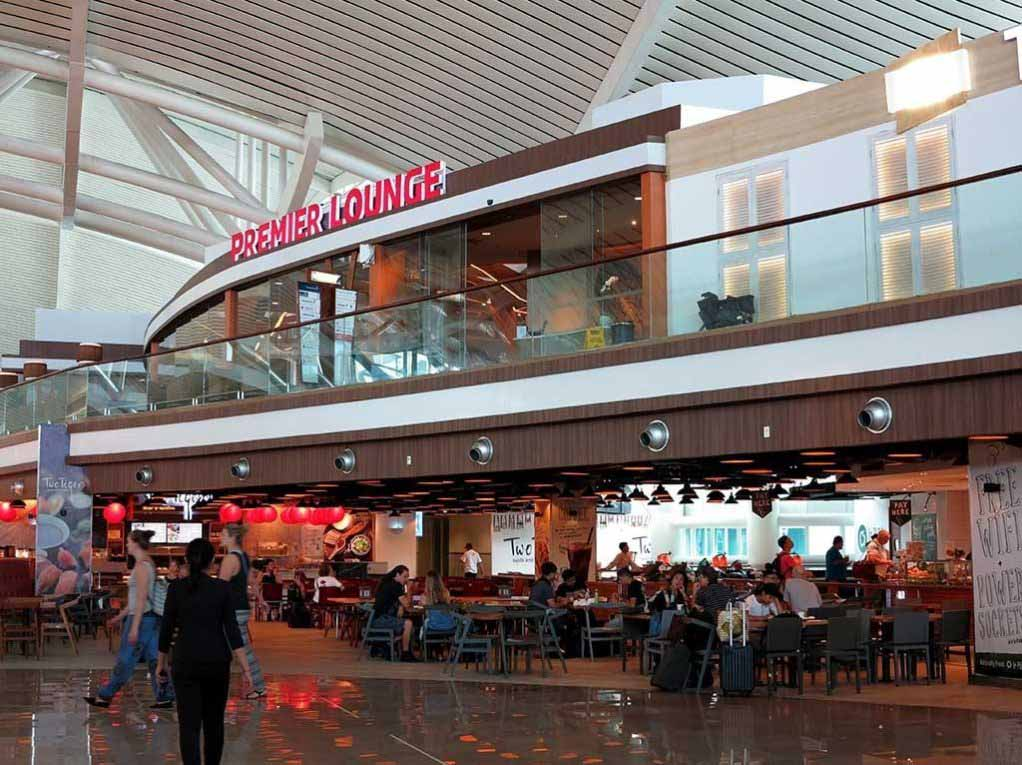 The entrance to Premier Lounge Bali