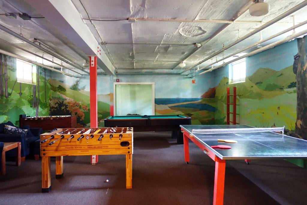 ping pong and foosball tables