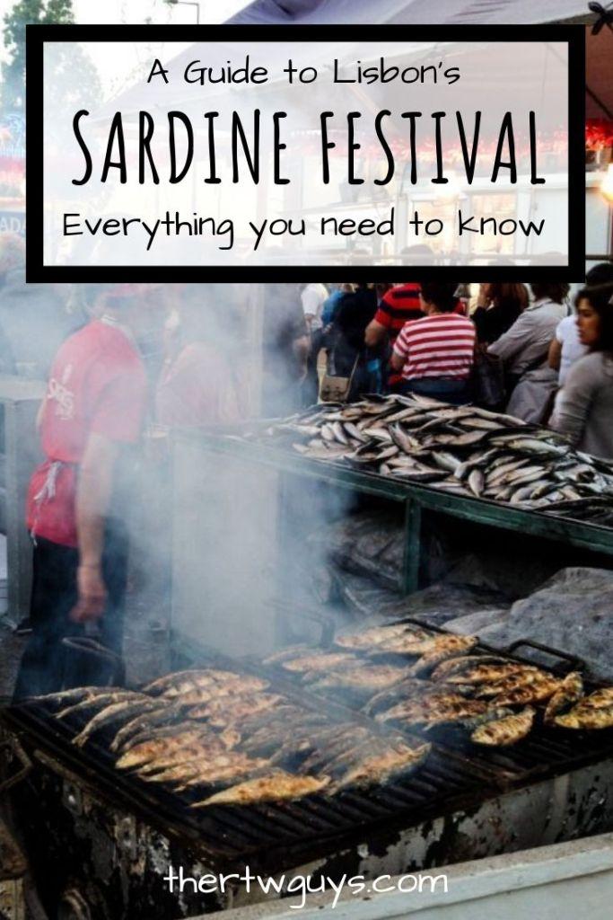 lisbon sardine festival pinterest