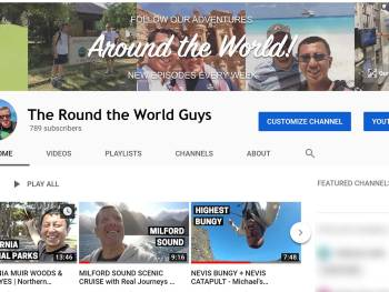 screenshot of the rtwguys travel vlog on youtube