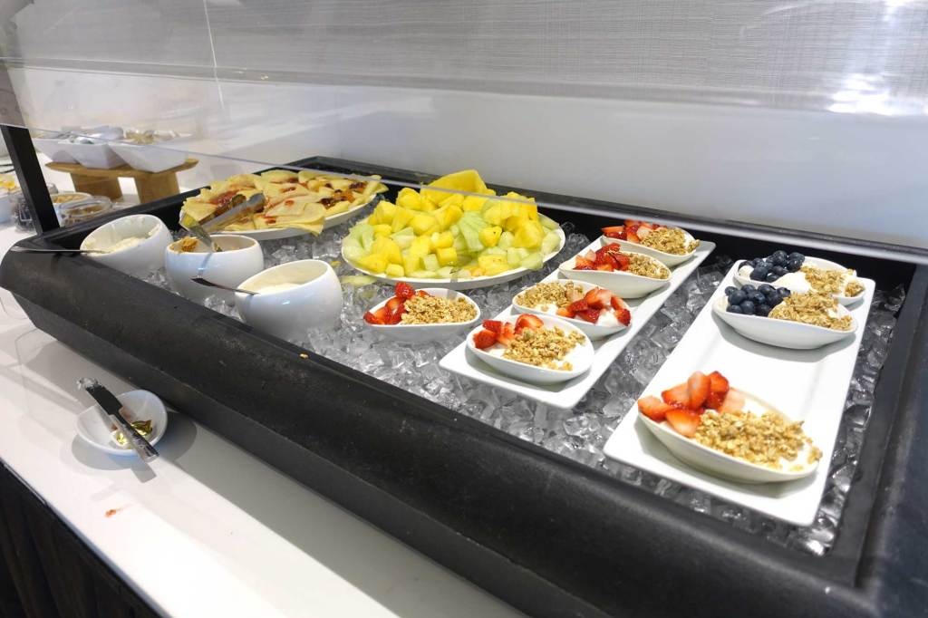 cold fruit and parfaits on the lounge boston cold bar