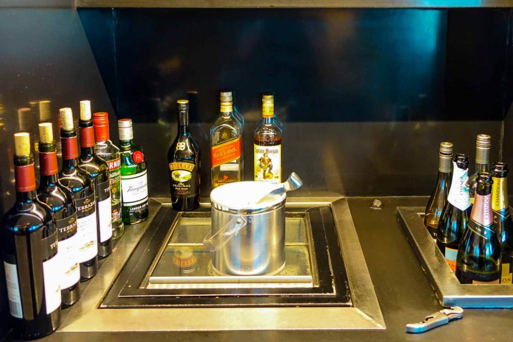 alcohol selection at buenos aires centurion lounge