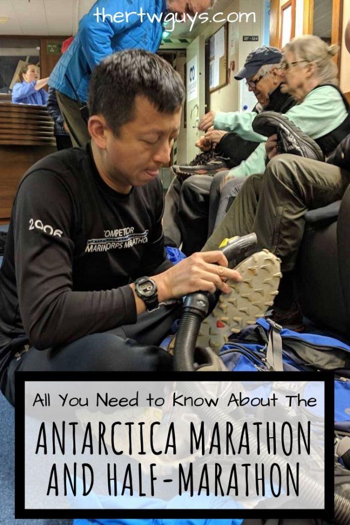 antarctica marathon halef cleaning shoes pinterest