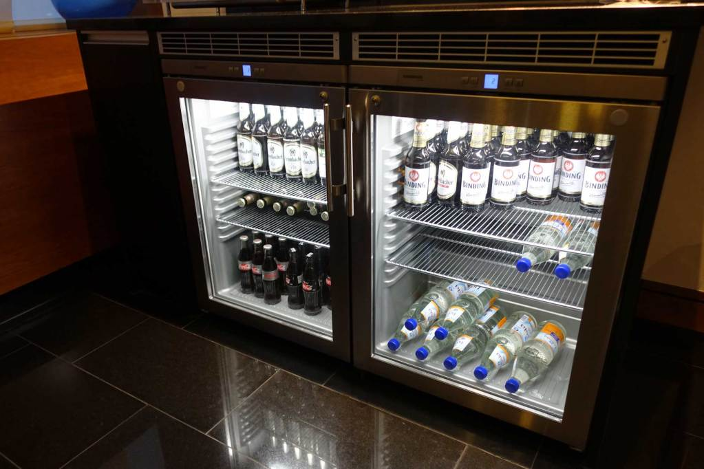 A beer refridgerator at LuxxLounge frankfurt
