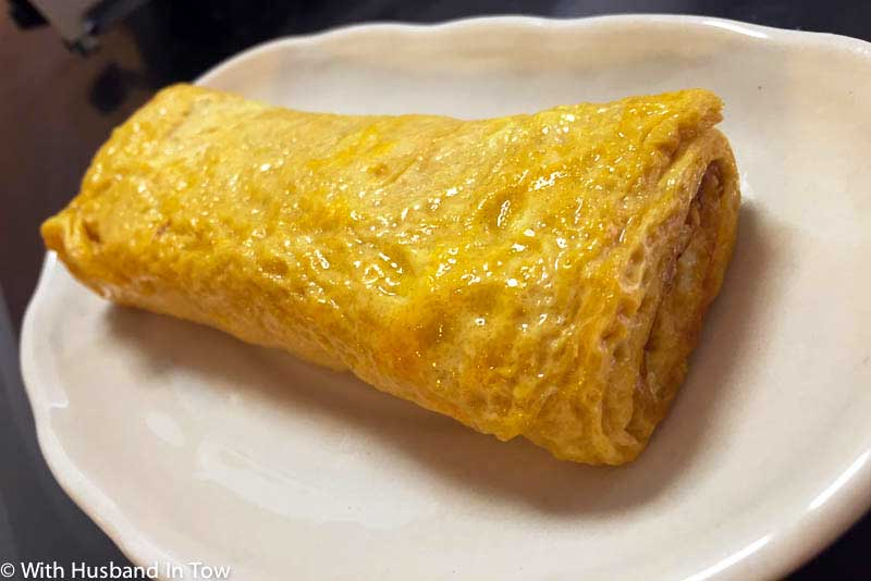 Dashimaki Omelet on a plate