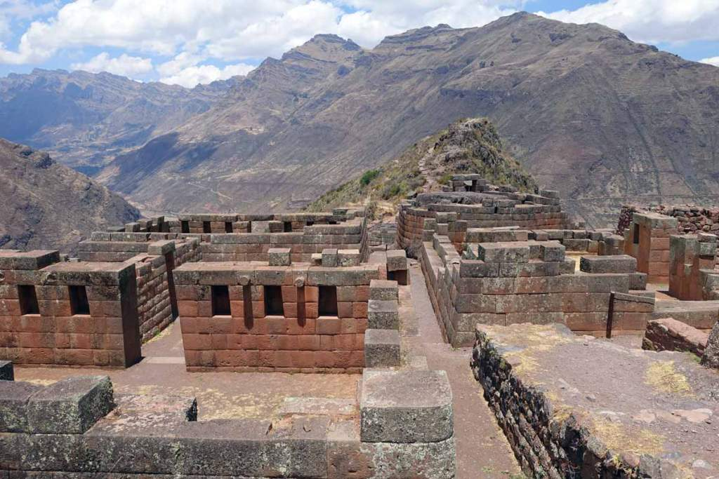 Pisac Inca ruins on the hike down the mountain. Free with Cusco Tourist ticket