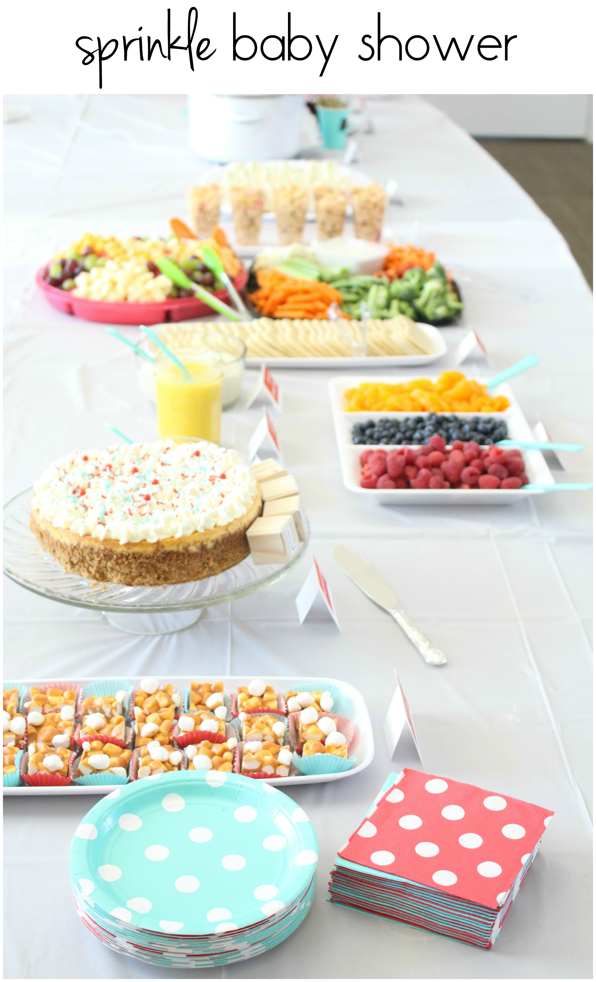 Sprinkle Baby Shower  The Ruby Kitchen