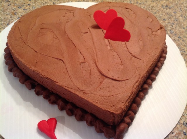 A Valentine Cake out of a sheet cake  Everything You Ever Wanted to Know About Country Life
