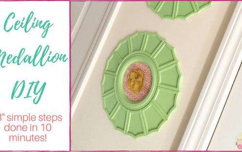 Ceiling Medallion DIY 3 simple steps